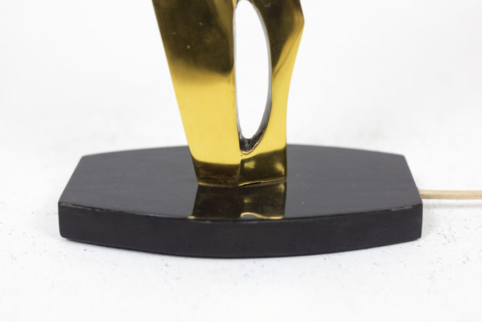 Lampe en bronze et patine médaille, détails 3