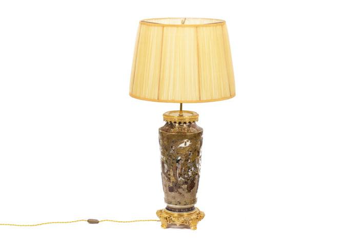 Lamp in Satsuma earthenware