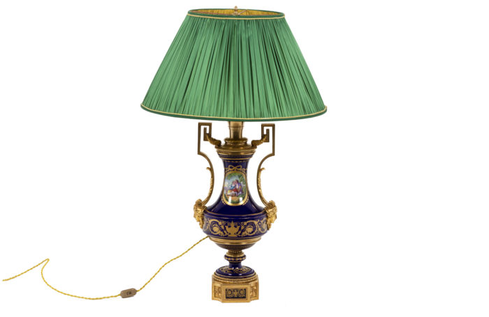 Lamp in Sevres porcelain