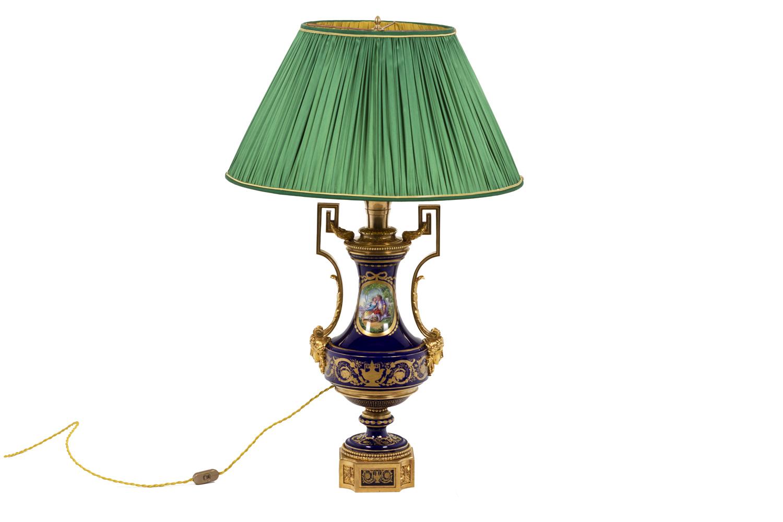 Lamp in Sevres porcelain