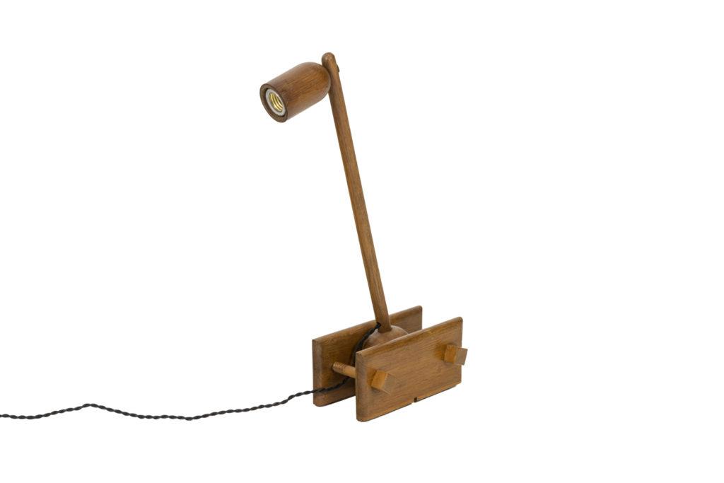 Articulated lamp in oak, 1960's