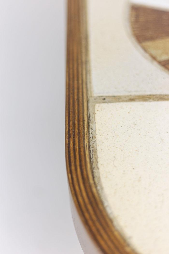Table basse Roger Capron détail plateau 2