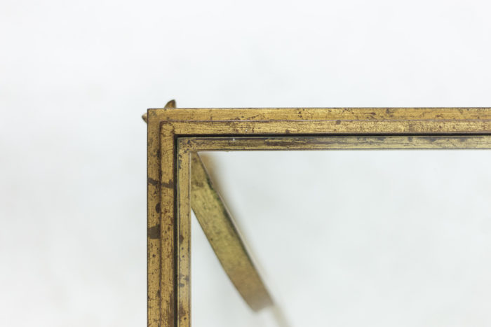 Maison Ramsay, dans le style de Jean-Charles Moreux, Table basse en fer à motifs de chevaux, détails 2