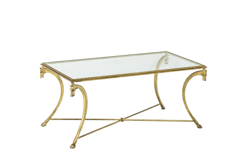 Maison Ramsay, dans le style de Jean-Charles Moreux, Table basse en fer à motifs de chevaux