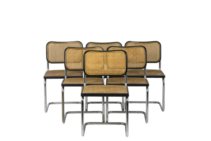 Marcel Breuer, Series of six canned chairs 1
