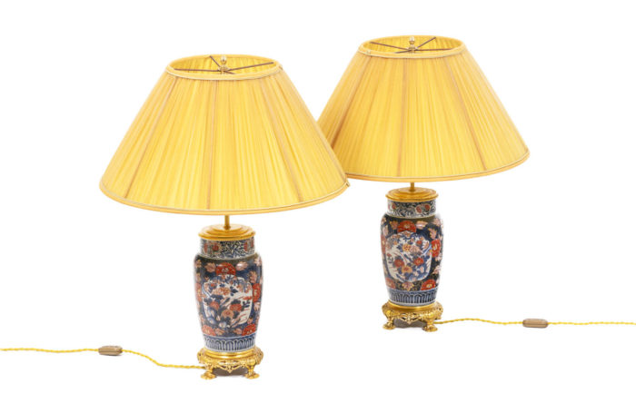 Paire de lampe à décor Imari 2