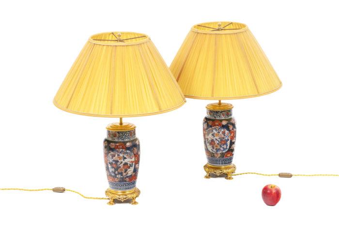 Paire de lampe à décor Imari