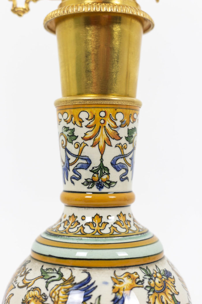 Pair of lamps in Gien porcelain 2