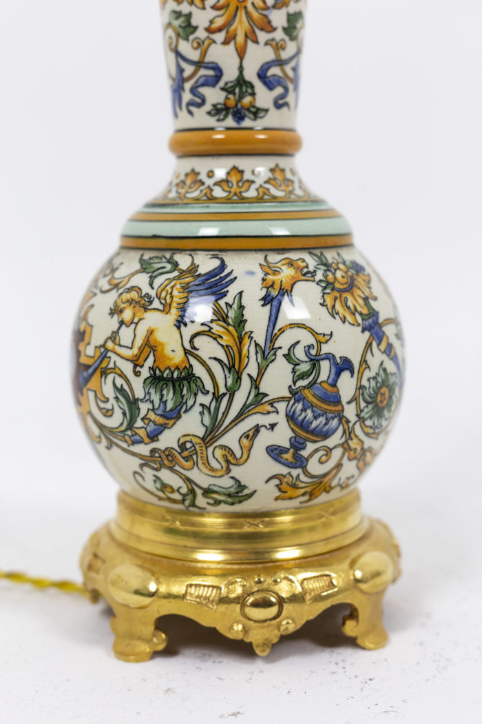 Pair of lamps in Gien porcelain 3