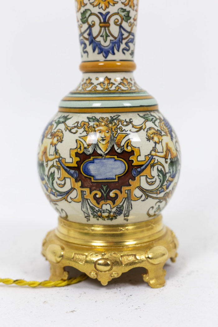 Pair of lamps in Gien porcelain 4
