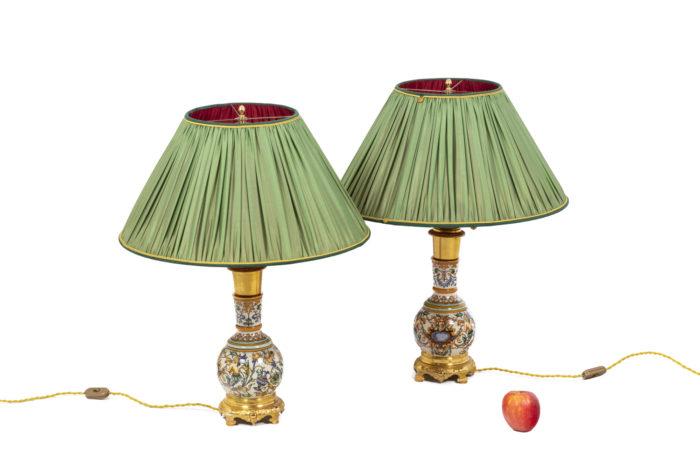 Pair of lamps in Gien porcelain 6