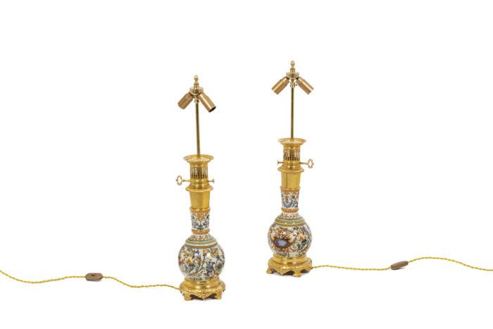 Pair of lamps in Gien porcelain 5