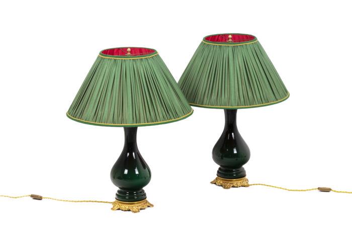 Paire de lampe vertes, vues d'ensemble