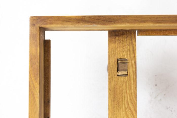 Pierre Chapo, Lit Godot à fond de bois simple en orme nature blond, détails 6