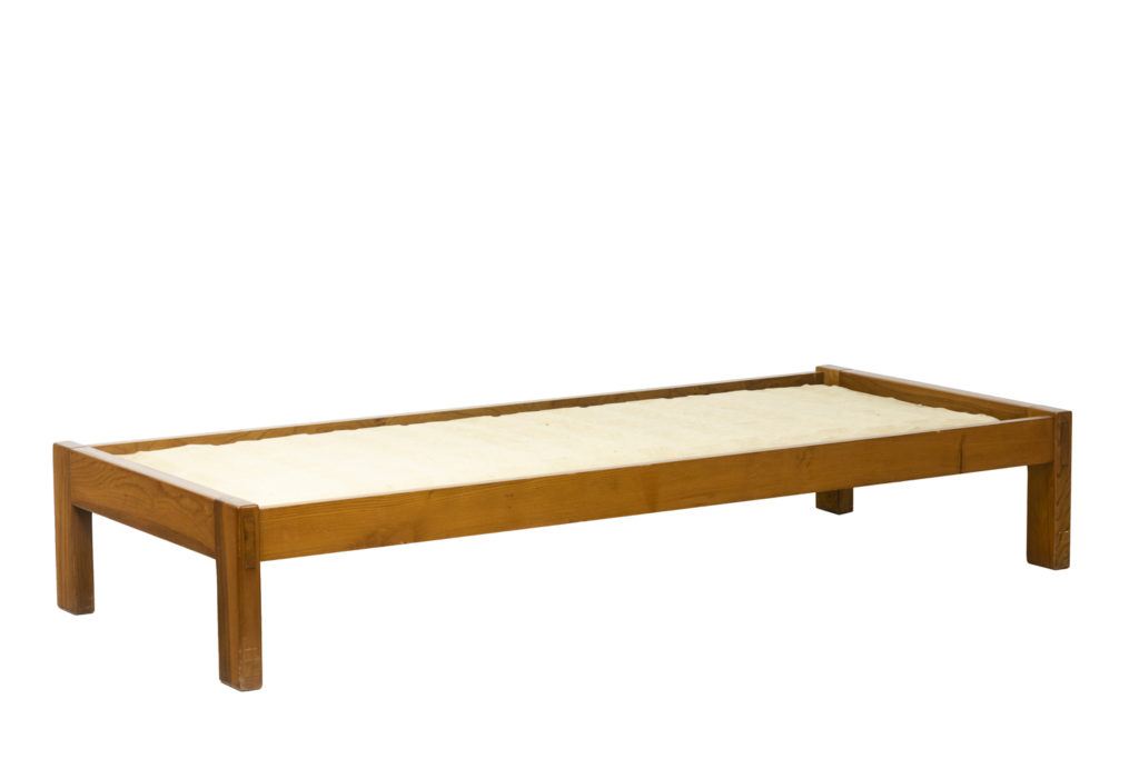 Pierre Chapo, Sofa-bed in natural elm, 1976