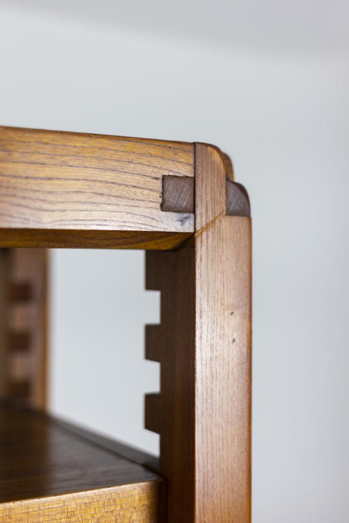 Pierre Chapo, meuble étagère détail haut