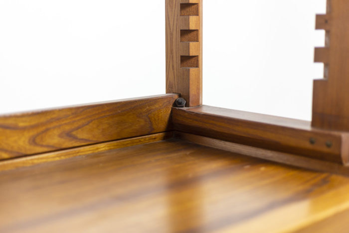 Pierre Chapo, meuble étagère détail meuble bas