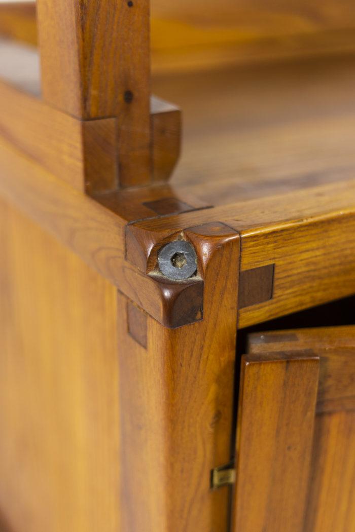 Pierre Chapo, meuble étagère détail porte