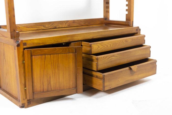 Pierre Chapo, meuble étagère meuble bas ouvert