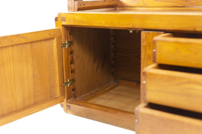 Pierre Chapo, meuble étagère porte ouverte