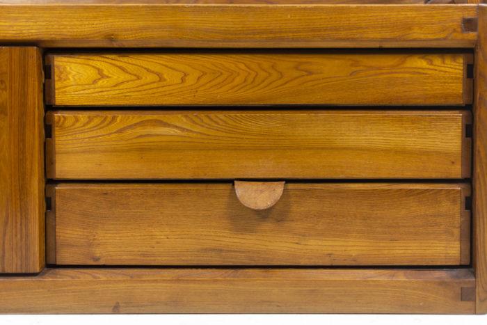 Pierre Chapo, meuble étagère tiroirs