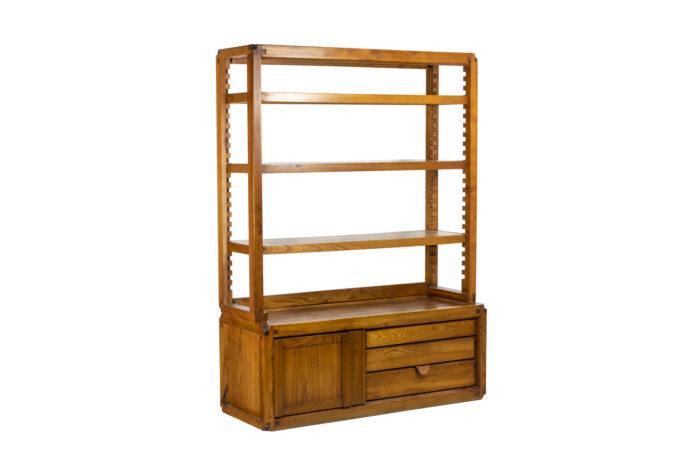 Pierre Chapo, meuble étagère trois-quarts