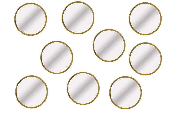Series of nine mirrors in gilt brass 1