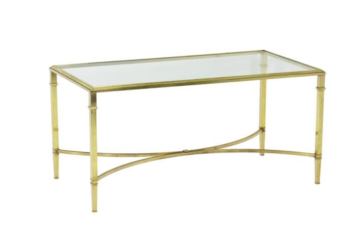 Table basse de salon en bronze doré