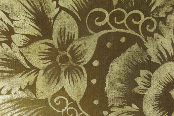 Toile peinte, Oiseaux et feuillages, détails 4
