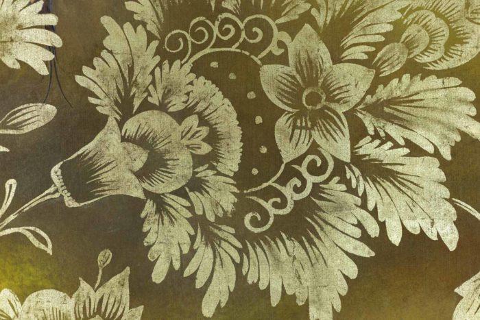 Toile peinte, Oiseaux et feuillages, détails 5