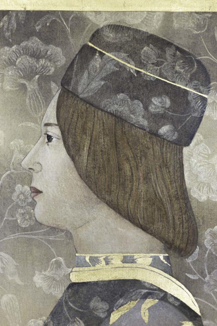 Toile peinte, portrait de la Renaissance