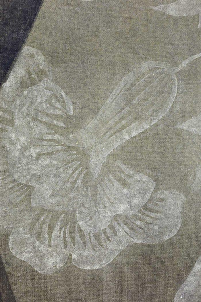Toile peinte, portrait de la Renaissance, détails 2