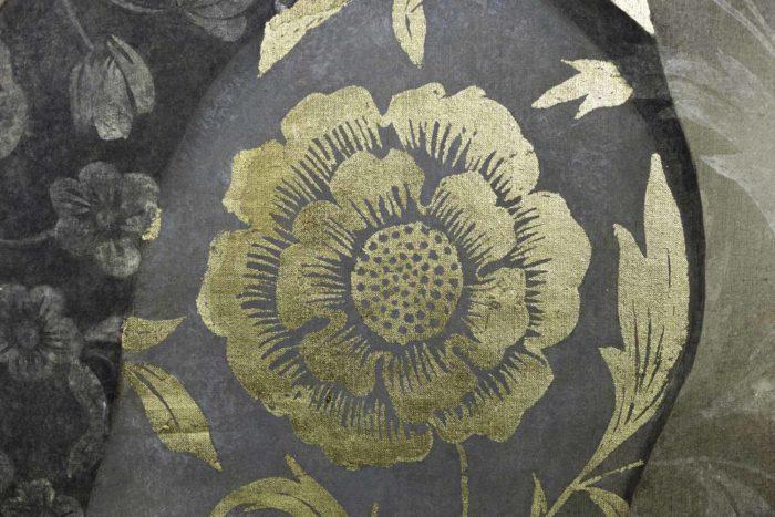 Toile peinte, portrait de la Renaissance, détails 4