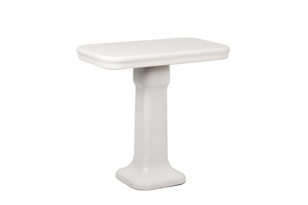 Console in white enamelled sandstone, 1900's