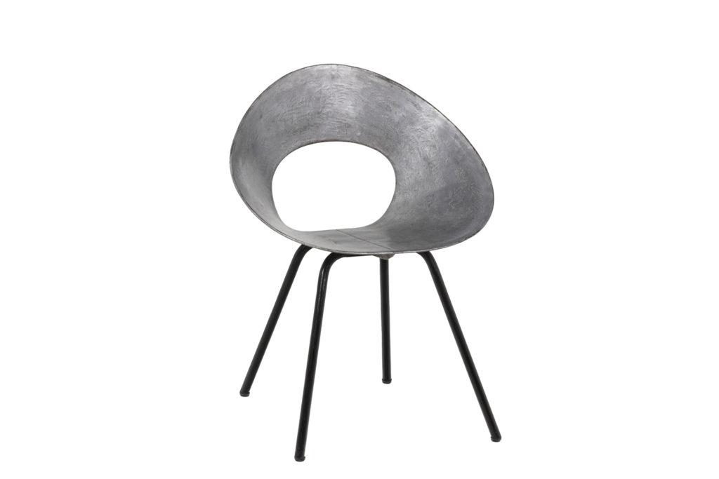 Donald Knorr, Chair 132U in metal, 1950's