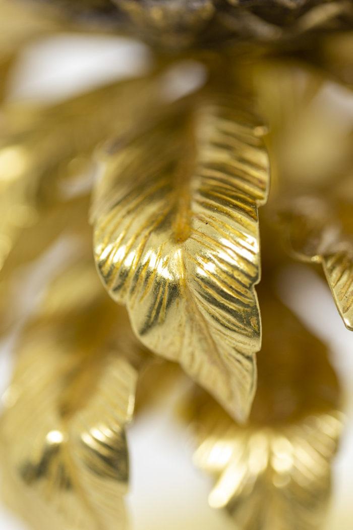 Maison Charles, Lampe Ananas en laiton doré et argenté, détails 1