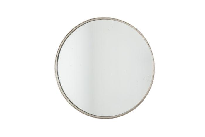 Miroir circulaire en laiton argenté