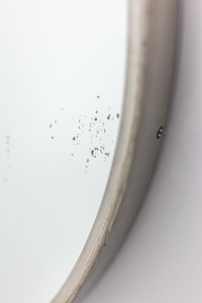 Miroir circulaire en laiton argenté, détails 3