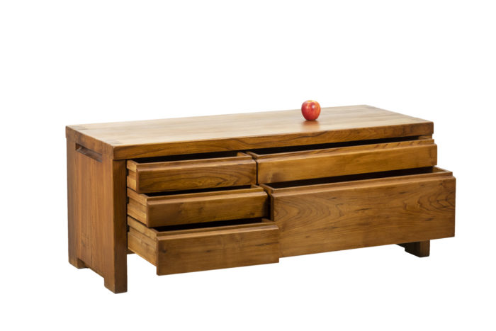 Pierre Chapo, Low cabinet in natural elm 11