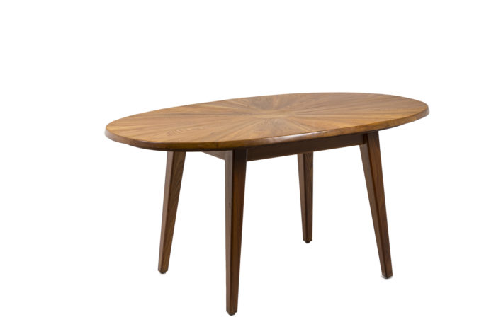 Table de salle à mange ovale en orme naturel