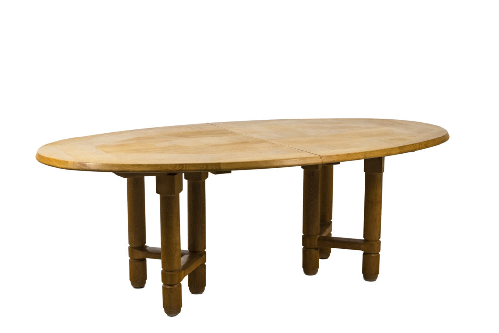 Votre maison, Guillerme et Chambron, table Elmyr in natural oak, 1970's