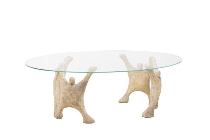 Table basse en pierre reconstitué