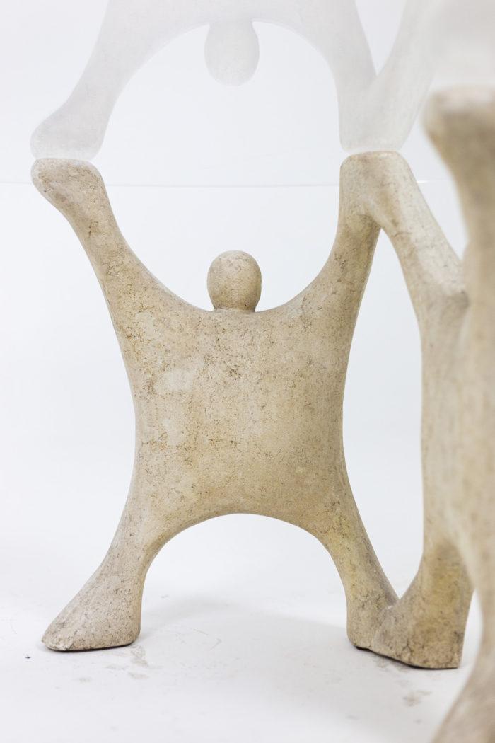 Table basse en pierre reconstitué, détails 2