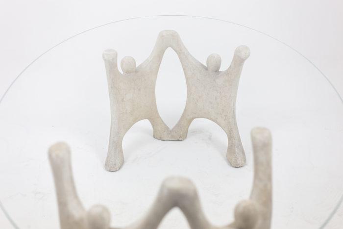 Table basse en pierre reconstitué, détails 4