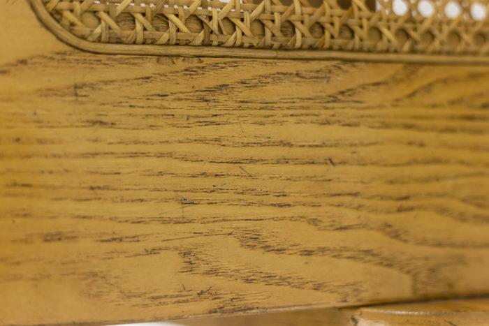 4 Chaises design italien - détail bois