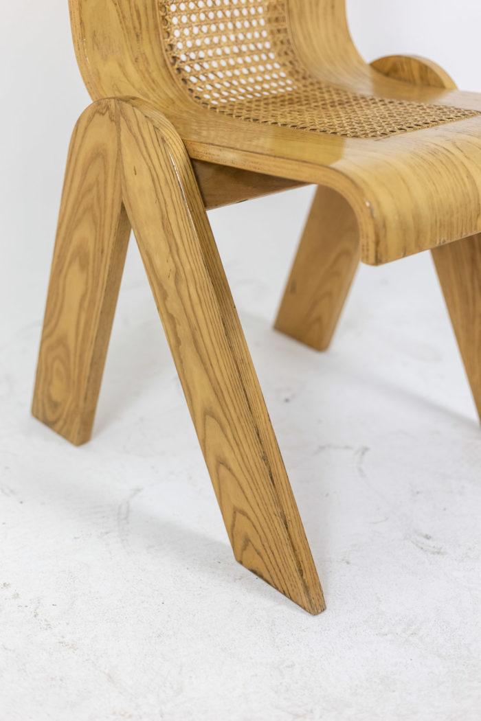 4 Chaises design italien - détail pieds