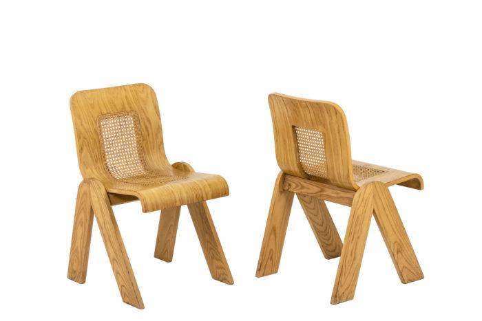 4 Chaises design italien - paire