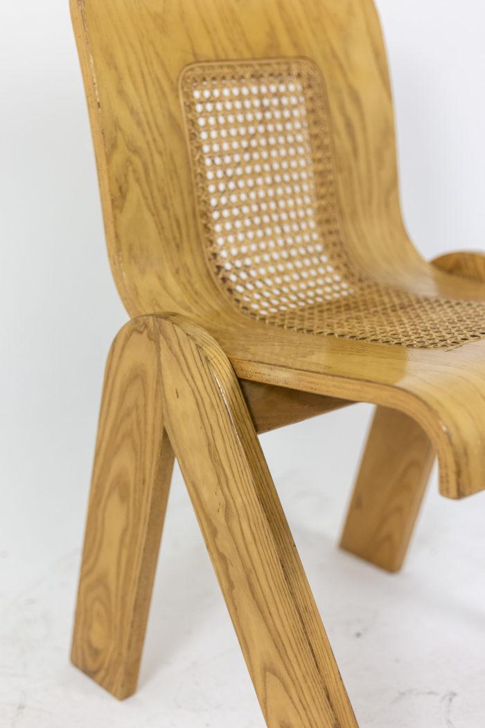 4 Chaises design italien - pieds