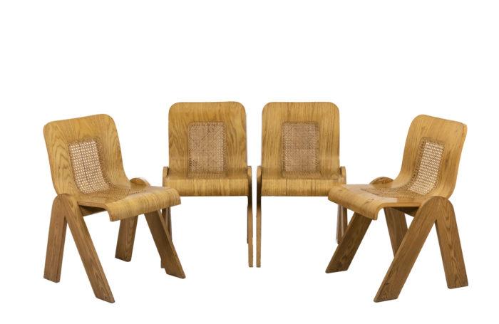 4 Chaises design italien - série