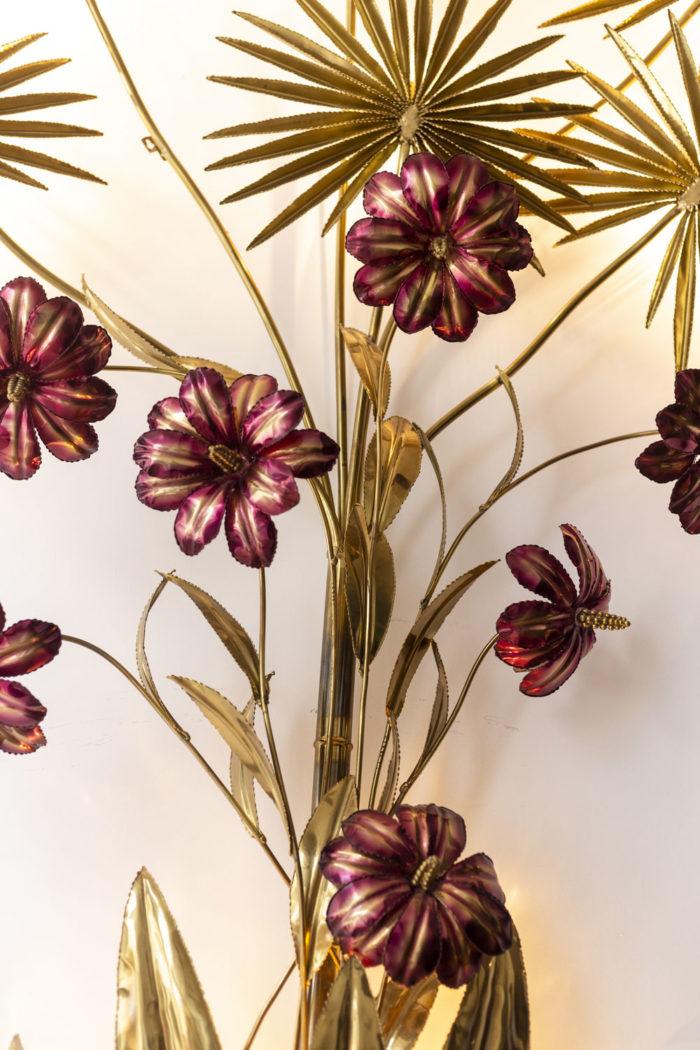 Applique - fleurs, feuilles et pétales